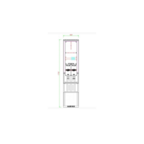 Csatári Plast PVT-K-L  3 Fogyasztásmérő szekrény 3f 1mérős kültéri, földbe 4x25 kábelhez
