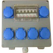 Csatári Plast ipari elosztó doboz, CSE 080, 6x230V+km