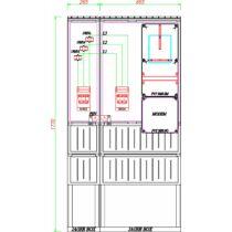 Csatári Plast PVT-K-L 160S Fogyasztásmérő szekrény. 3f  ÁV-s 1mérős 150/5A, lábazattal