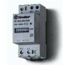 Finder Fogyasztásmérő, 1F, 2KE, 230 V, Hiteles
