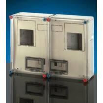 Hensel HB 33K0 BASIC fogyasztásmérő szekrény 2x3 vagy 2x1 fázisú mérőkombináció, beltéri és kültéri alkalmazásra 63A-ig, RAL 7032 műanyag