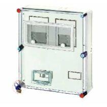 Hensel HB33KA-E Basic fogyasztásmérő szekrény EON területre IP 54, 1/3 fázisú két mérős kombinált, alap szekrény álló