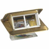 Legrand Pop-up felnyíló süllyesztett padlódoboz 4 modul, sárgaréz, üres, 054016