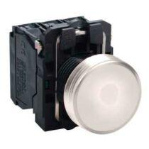 Schneider LED-es jelzőlámpa, fehér, 230V AC, XB5AVM1