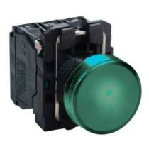 Schneider LED-es jelzőlámpa, zöld, 230V AC, XB5AVM3