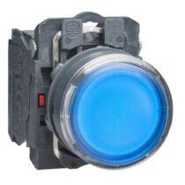 Schneider LED-es világító nyomógomb, kék, 110V, XB5AW36G5