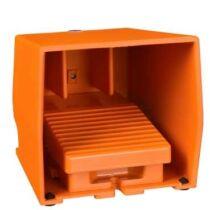 Schneider Biztonsági lábkapcsoló, fém, narancs, 1NC+1NO, 1 fokozatos reteszelés, XPER410