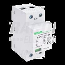 Tracon T1+T2+T3 AC típusú túlfeszültség levezető, egybeépített, ESPD1+2+3-25-1P