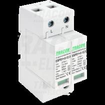 Tracon T1+T2 AC típusú túlfeszültség  levezető, cserélhető betéttel, ESPD1+2-12.5-2P
