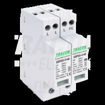 Tracon T2+T3 AC típusú túlfeszültség  levezető, egybeépített, ESPD2+3-40-3+1P