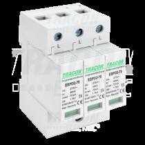 Tracon T2 AC típusú túlfeszültség levezető, cserélhető betéttel, ESPD2-70-3P