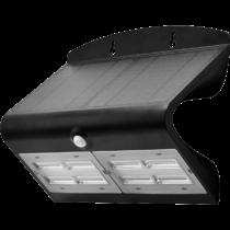 Tracon Napelemes LED fali világítótest mozgásérzékelővel, fekete, LSLBB7W