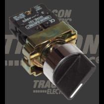 Tracon Tokozott választókapcsoló, fémalap, háromállású, hosszúkaros, NYBJ33KLOT