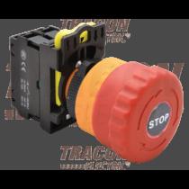 Tracon Vészgomb, világító, reteszelt, piros, NYG3-ETLR
