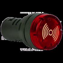 Tracon Hang- és fényjelző, piros [NYG3-BFR230]