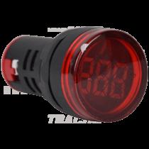 Tracon Feszültségmérő, LED jelzőfény, piros, NYG3-VR