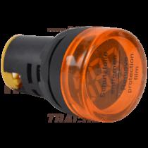 Tracon Feszültségmérő, LED jelzőfény, sárga [NYG3-VY]