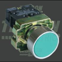 Tracon Tokozott egyszerű nyomógomb, fémalapra szerelt, zöld, NYGBA31ZT