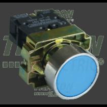 Tracon Tokozott egyszerű nyomógomb, fémalapra szerelt, kék, NYGBA61KT