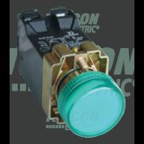 Tracon Jelzőlámpa, fémalap, zöld, trafóval, izzó nélkül, NYGBV53Z