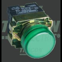 Tracon Jelzőlámpa, fémalapra szerelt, zöld, izzó nélkül, NYGBV63Z