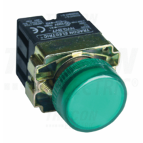 Tracon Tokozott jelzőlámpa, fémalap, zöld, előtéttel, izzó nélkül [NYGBV73Z]