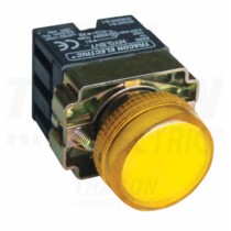 Tracon Tokozott jelzőlámpa, fémalap, sárga, előtéttel, izzó nélkül [NYGBV75S]