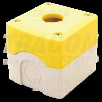 Tracon Összeállított tokozat nyomógombokhoz, sárga, 1-es, NYGD-1YE