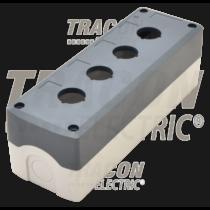 Tracon Összeállított tokozat nyomógombokhoz, szürke, 4-es, NYGD-4GR