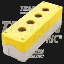 Tracon Összeállított tokozat nyomógombokhoz, sárga, 4-es, NYGD-4YE