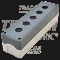 Tracon Összeállított tokozat nyomógombokhoz, szürke, 5-es, NYGD-5GR