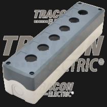 Tracon Összeállított tokozat nyomógombokhoz, szürke, 6-es, NYGD-6GR