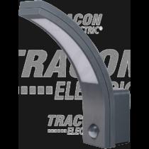 Tracon Mozgásérzékelős fali lámpatest, ívelt forma, antracit, SLIA15W