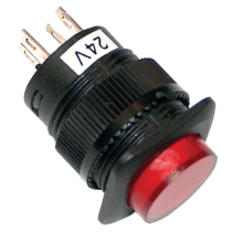 Tracon Mini jelzőlámpás nyomógomb, piros, MNG-006R