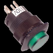 Tracon Mini jelzőlámpás nyomókapcsoló, zöld, MNK-006G