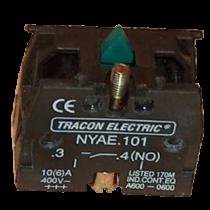 Tracon Érintkező-egység fémalapra szerelt nyomógombokhoz, NYAE101