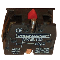 Tracon Érintkező-egység fémalapra szerelt nyomógombokhoz, NYAE102