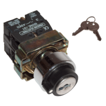 Tracon 2 állású kulcsos kapcsoló 1-2, pozicióban maradó, NYBG25KK