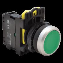 Tracon Egyszerű nyomókapcsoló, zöld, NYK3-G
