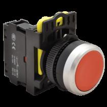 Tracon Egyszerű nyomókapcsoló, piros, NYK3-R