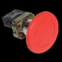 Tracon Reteszelt gombafejű vészgomb, fémalap, piros, elfordítással, NYG542P40
