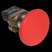 Tracon Gombafejű vészgomb, fémalapra szerelt, piros, NYGBR42P
