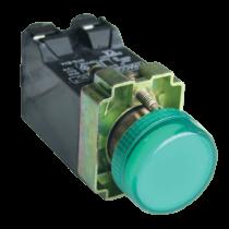 Tracon Jelzőlámpa, fémalap, zöld, trafóval, izzó nélkül, NYGBV43Z