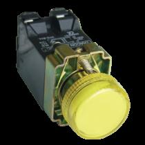 Tracon Jelzőlámpa, fémalap, sárga, trafóval, izzó nélkül, NYGBV45S