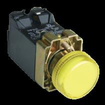 Tracon Jelzőlámpa, fémalap, sárga, trafóval, izzó nélkül, NYGBV55S