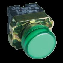 Tracon Tokozott jelzőlámpa, fémalapra szerelt, zöld, izzó nélkül, NYGBV63ZT