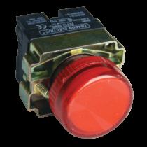 Tracon Tokozott jelzőlámpa, fémalapra szerelt, piros, izzó nélkül, NYGBV64PT