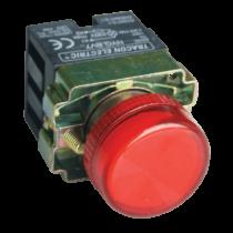 Tracon Jelzőlámpa, fémalapra szerelt, piros, előtéttel, izzó nélkül, NYGBV74PT