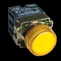 Tracon Tokozott jelzőlámpa, fémalap, sárga, előtéttel, izzó nélkül, NYGBV75ST