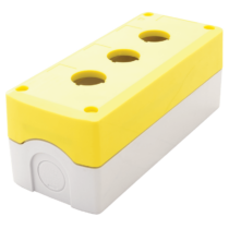 Tracon Összeállított tokozat nyomógombokhoz, sárga, 3-es, NYGD-3YE